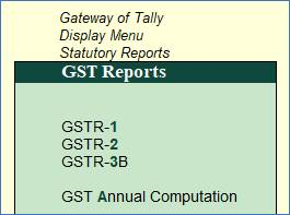 GSTR-1 Reports to File GST Returns in Tally.Erp9