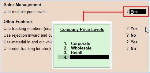 Price Levels and Price List  in TallyERP9