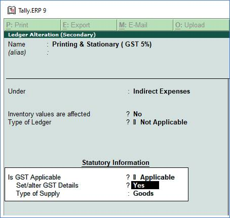 Record Expenses with GST in Purchase Voucher in TallyERP9
