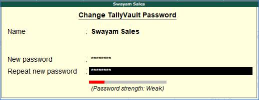 Security Control and Password in TallyERP9