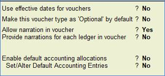 Alter Sale Voucher type in TallyERP9