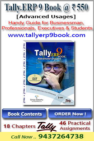 Tally.ERP9 Book (Advanced Usage) @ Rs.550
